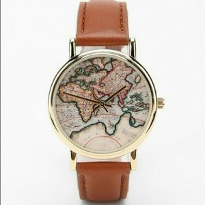 urban outfitters Around The World Leather Watch